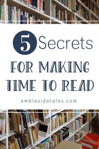 Do you struggle with being too busy to read? One of the reasons we chose a Charlotte Mason homeschool is the emphasis on reading and the flexibility to have a schedule that reflects this priority. In this post, I share 5 ways that I'm fighting back against being busy to make more time to read.
